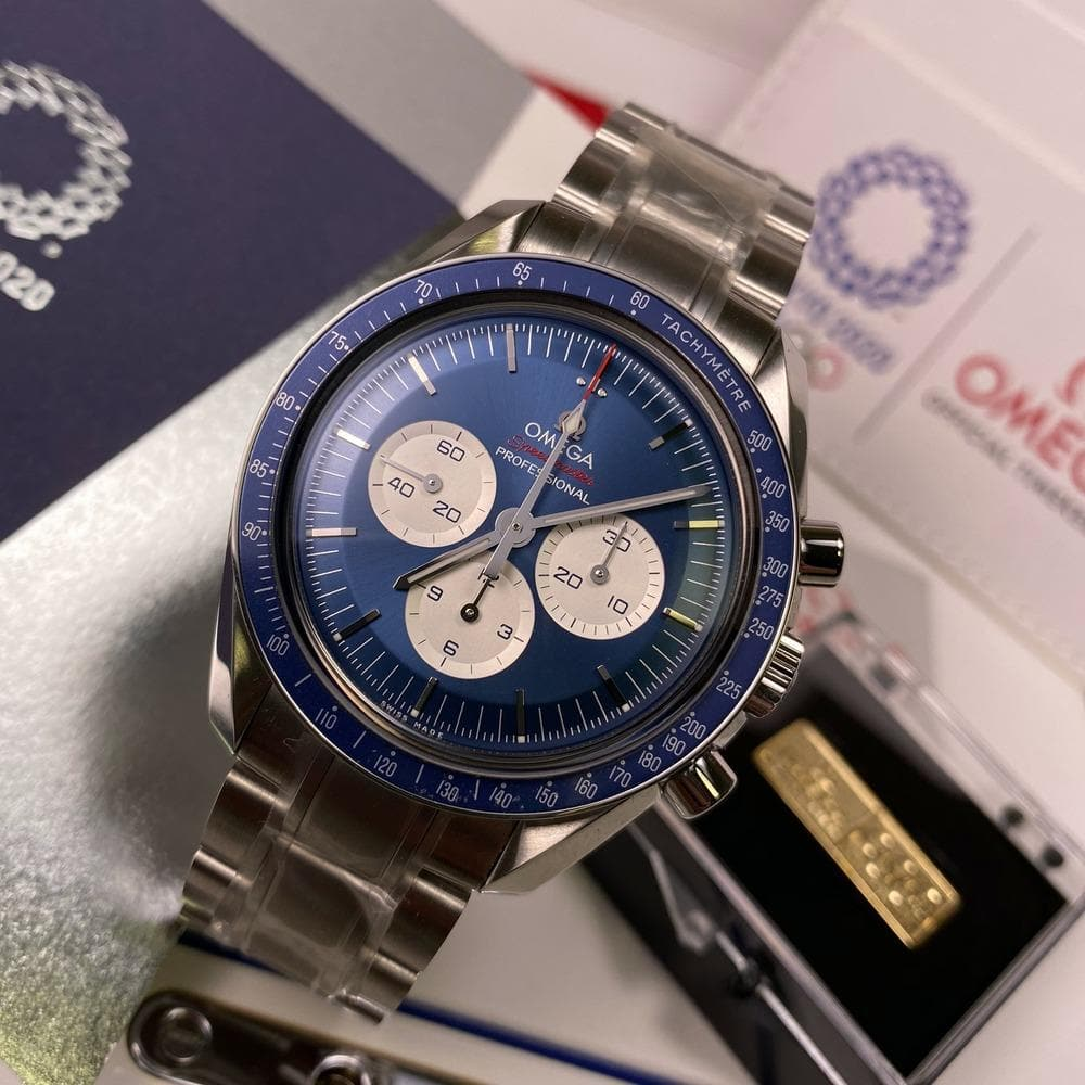 Omega Speedmaster Tokyo Olympic Games 2020 Blue 522.30.42.30.03.001 - Swiss Watch Trader