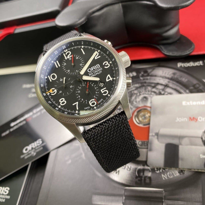 Oris Big Crown Pilot Chronograph GMT - Swiss Watch Trader