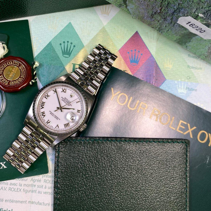 "Rolex Datejust 36 16220 •UNWORN - ""NOS""• (2005 - F Serial) - Swiss Watch Trader"