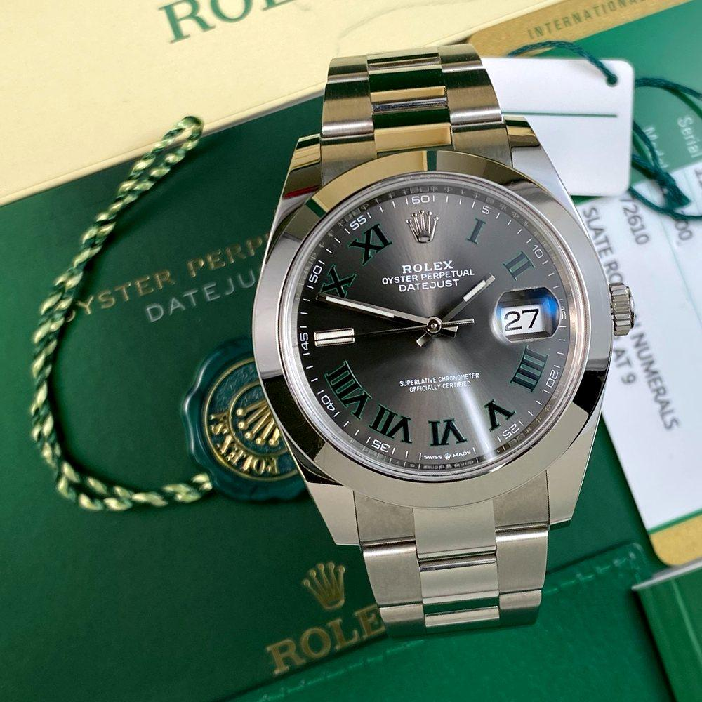 Rolex Datejust 41 126300 Wimbledon - Swiss Watch Trader
