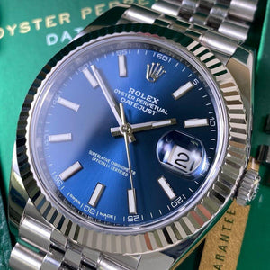 Rolex Datejust 41 126334 - Blue Dial (Year: 2017) - Swiss Watch Trader