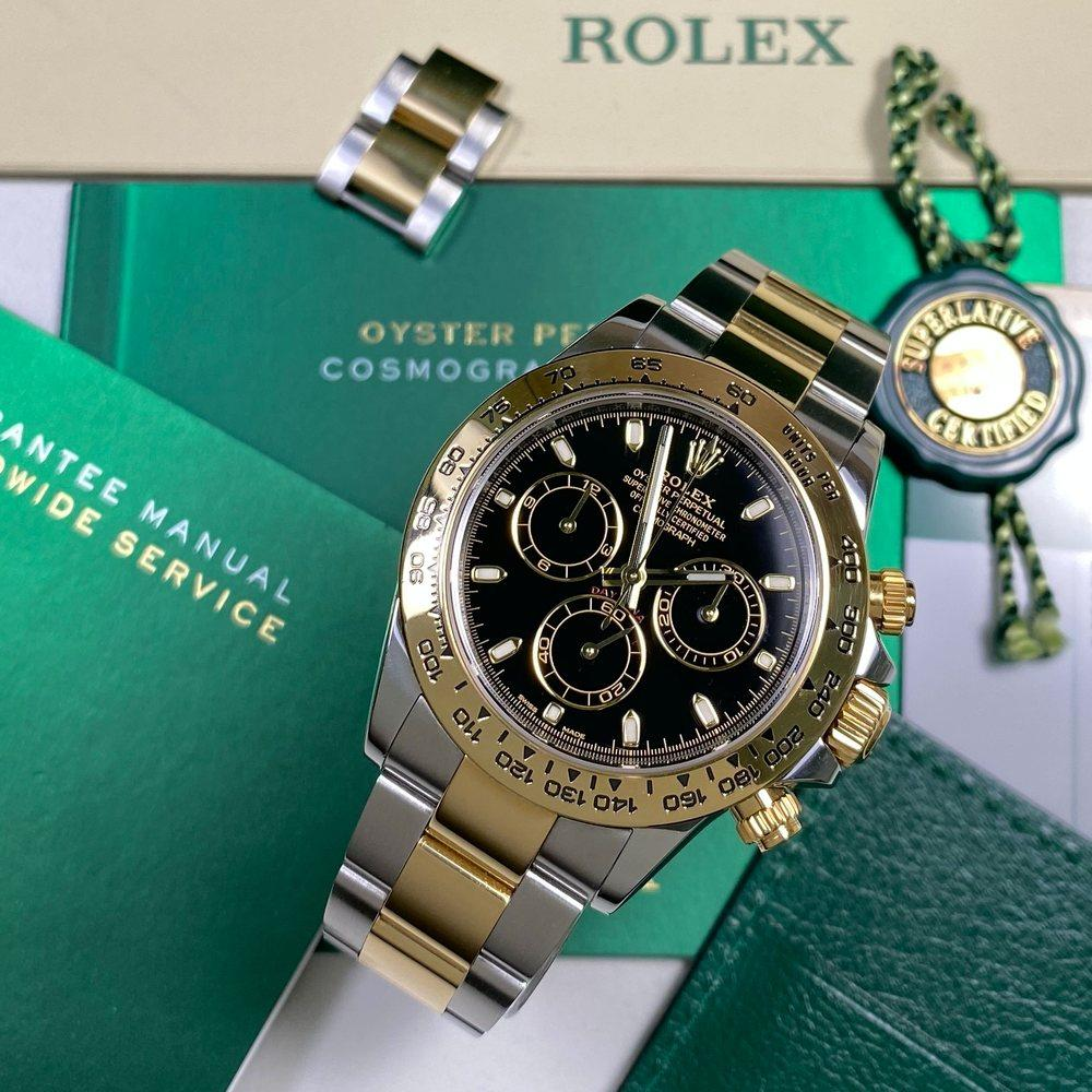 Rolex Daytona 116503 •BLACK DIAL• (2017) - Swiss Watch Trader