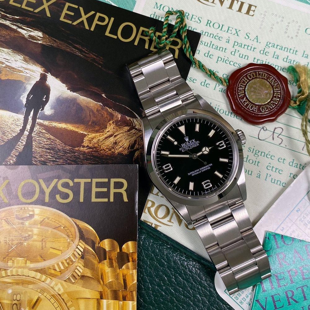 Rolex Explorer 14270 36mm •TRITIUM DIAL• (1993 - N Serial) - Swiss Watch Trader
