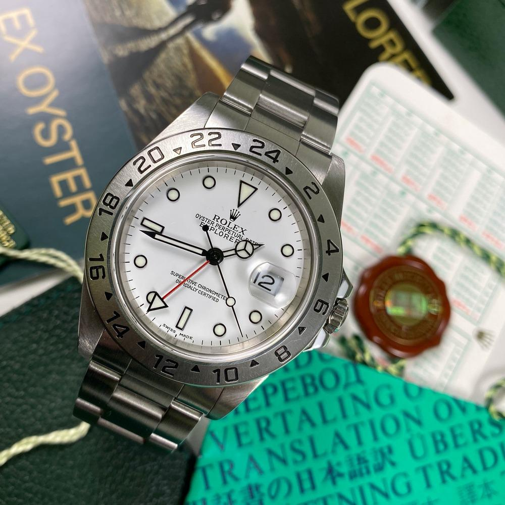 Rolex Explorer II 16570 (1999-A) - Swiss Watch Trader