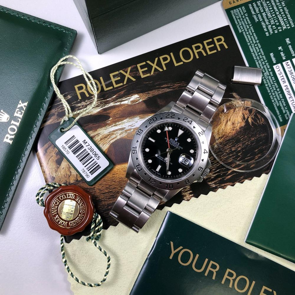 Rolex Explorer II 16570 •3186 MOVEMENT• (2008 - M Serial) - Swiss Watch Trader