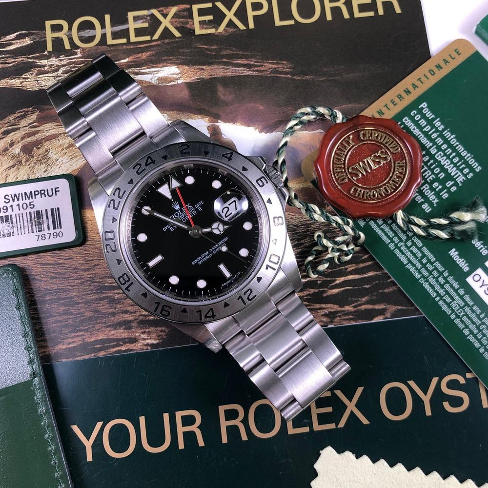 Rolex Explorer II 16570 •3186 MOVEMENT• (2009 - M Serial) - Swiss Watch Trader