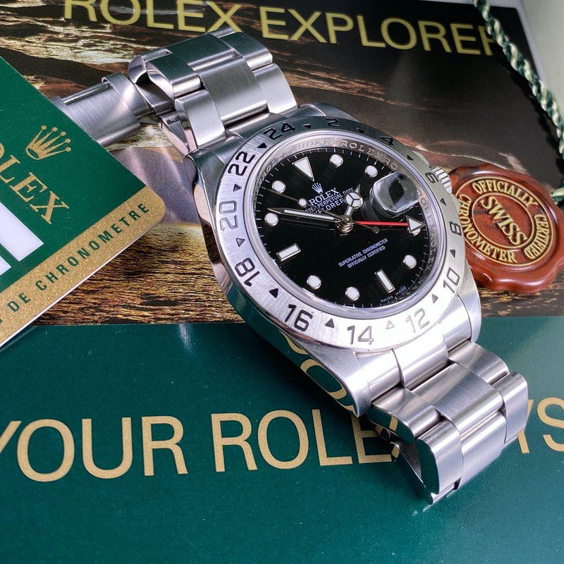Rolex Explorer II 16570 •3186 MOVEMENT• (2010 - V Serial) - Swiss Watch Trader