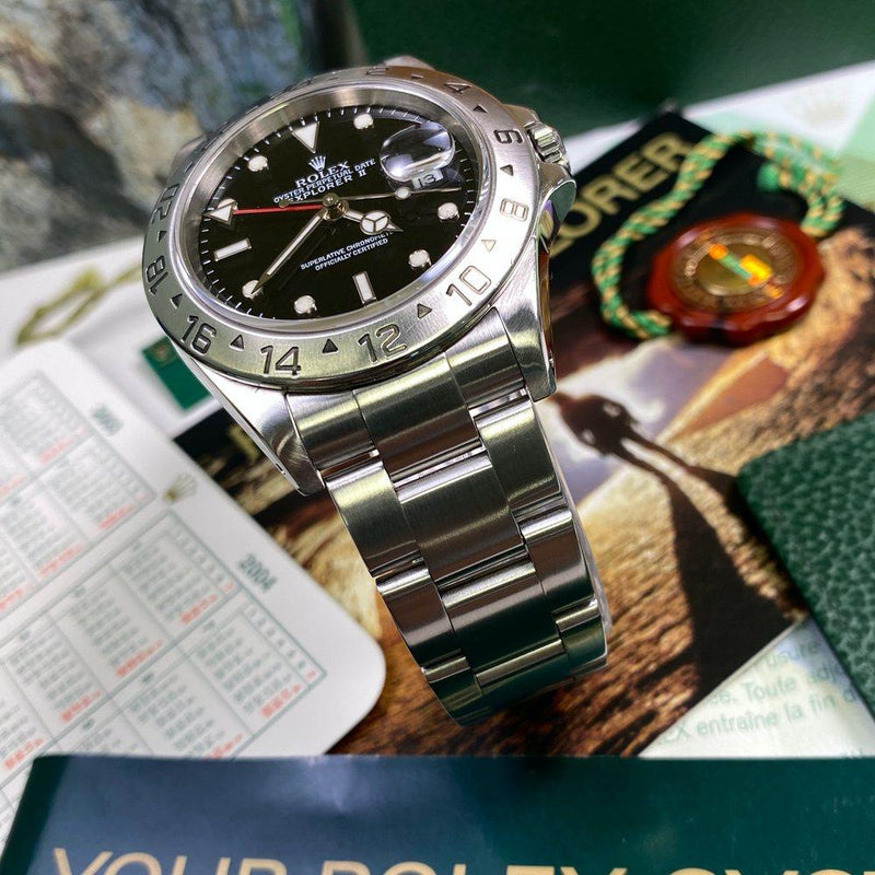 Rolex Explorer II 16570 •Black Dial• (2003 - Y Serial) - Swiss Watch Trader