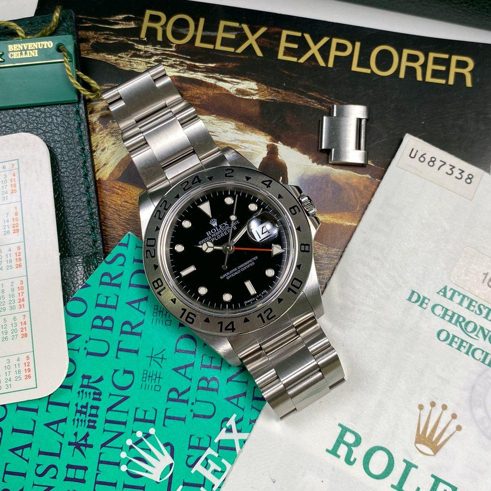 Rolex Explorer II 16570 •Tritium Dial• (1998 - U Serial) - Swiss Watch Trader