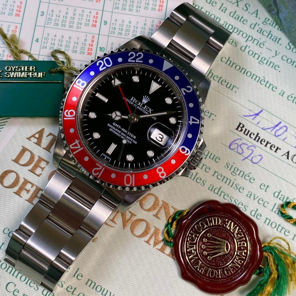 Rolex GMT Master 16700 •PEPSI BEZEL• (1999 - A Serial) - Swiss Watch Trader