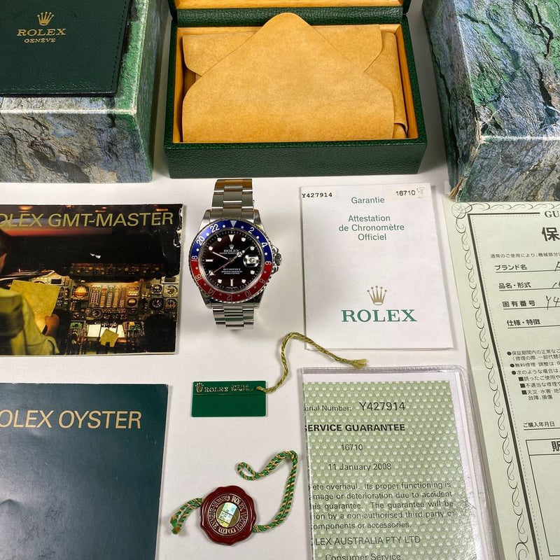 Rolex GMT Master II 16710 Pepsi (2003-Y) - Swiss Watch Trader