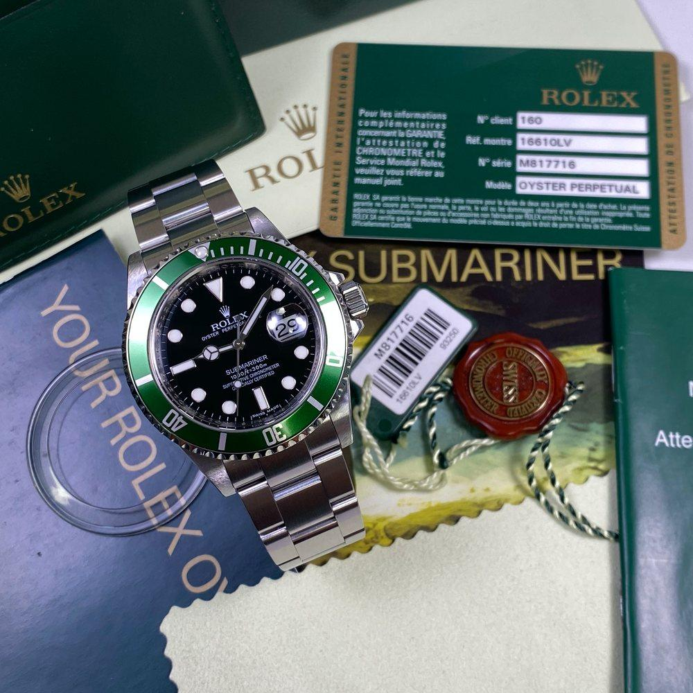 "Rolex Submariner 16610LV ""Kermit"" •REHAUT• (2008 - M Serial) - Swiss Watch Trader"