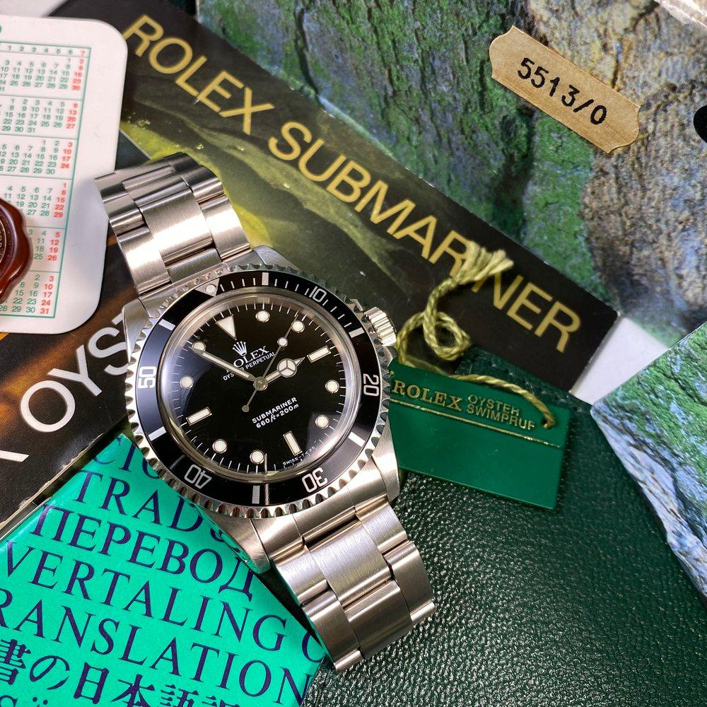 Rolex Submariner 5513 (1988 - L Serial) - Swiss Watch Trader