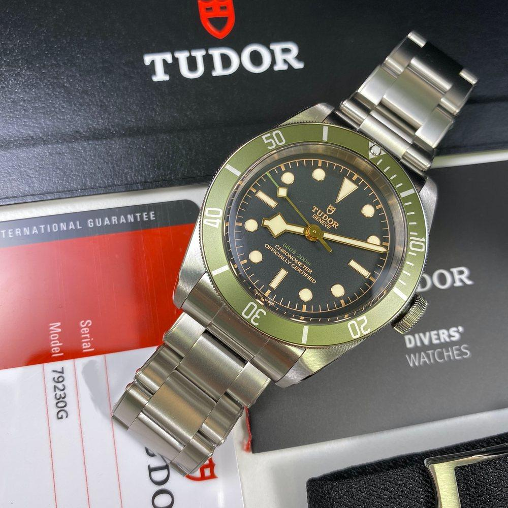 Tudor Black Bay Green Harrods Edition 79230G •UNWORN•
