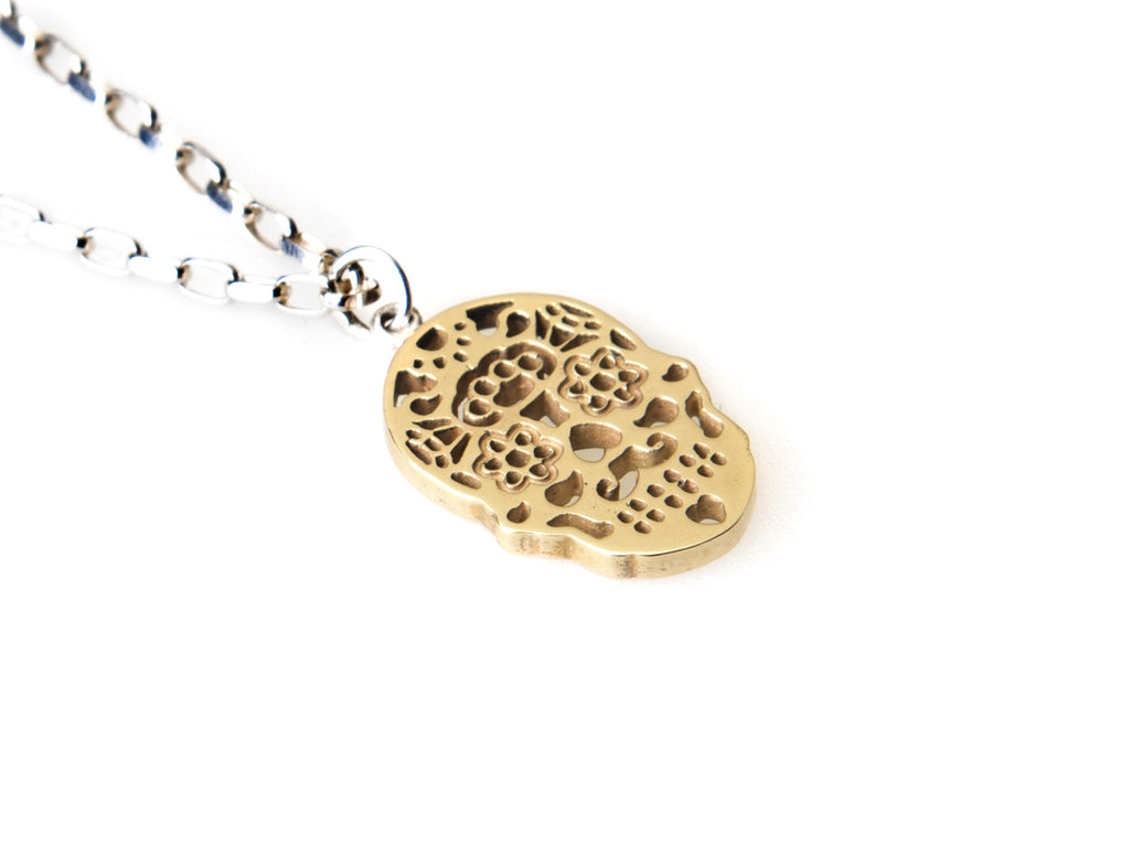 Calavera 9ct Yellow Gold Necklace