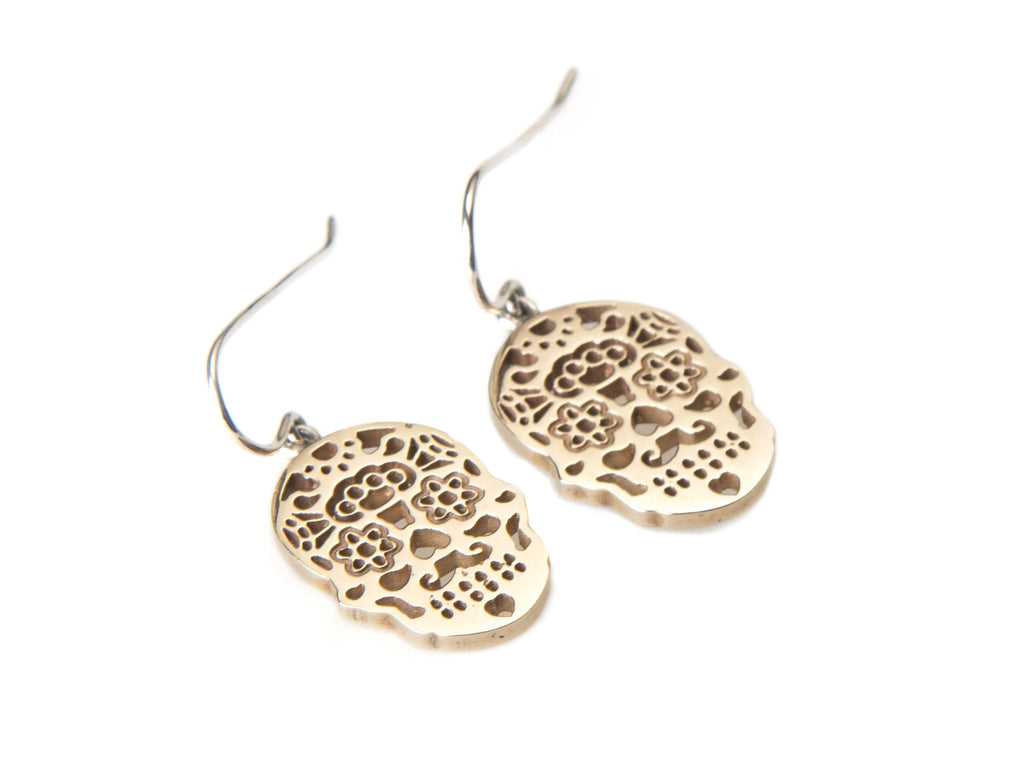 Calavera earrings Gold