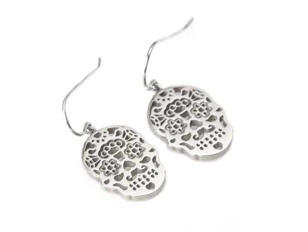 Calavera Earrings Silver