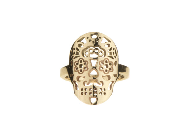 Calavera Ring Yellow Gold