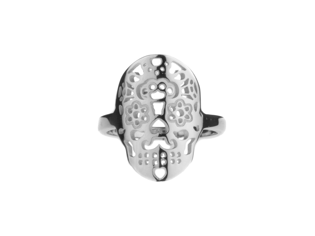 Calavera Ring Sterling Silver