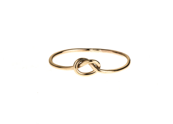 Love Me Knot Ring Yellow Gold