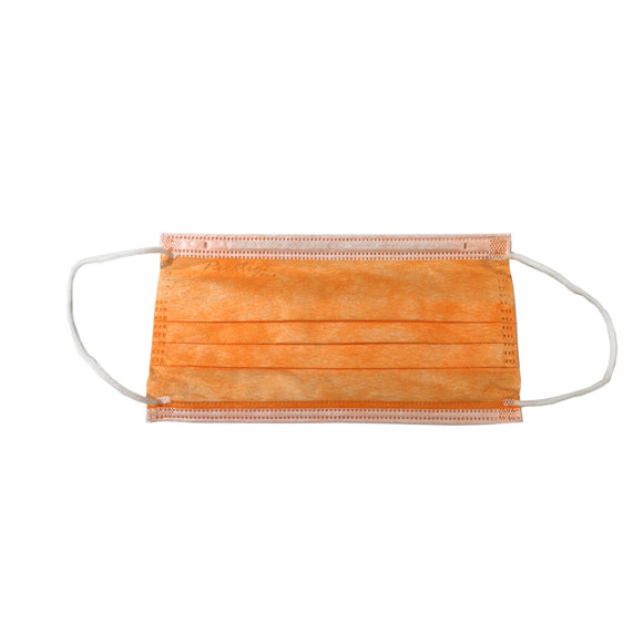 10 pcs Orange Medical Grade 3-ply Disposable Face Mask