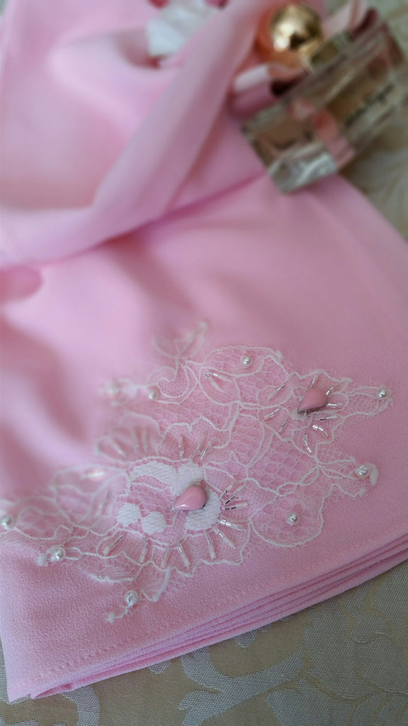 Lace Loop Shawl - Pink