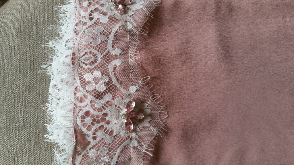 Soft Lace Series: Chiffon Shawl in Brick Pink
