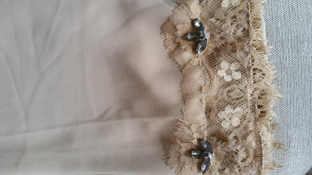 Soft Lace Series: Chiffon Shawl in Golden Beige