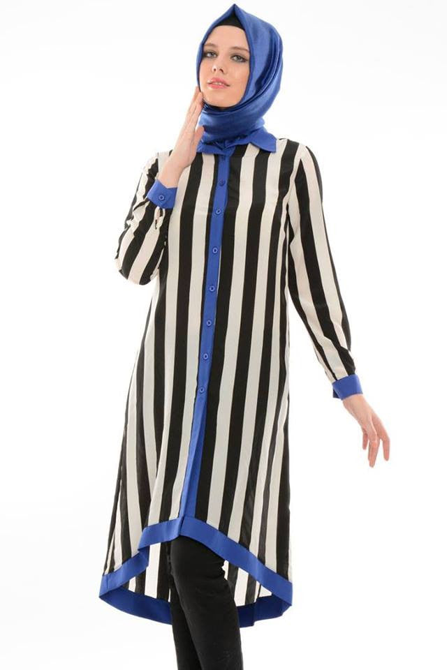 Striped tunic (nursing friendly)