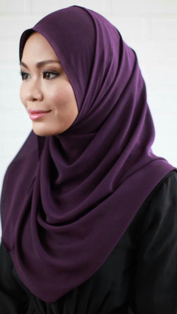 Karyanina Slip-on Instant Shawl in Purple