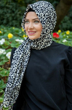 Limited Edition: Laser cut Shawl in Floral Monochrome