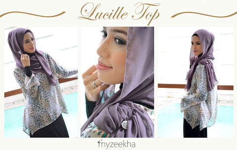 Lucille Top in Ethnic Mocca