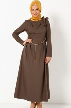 Limited Edition: Brown dress with ribbon