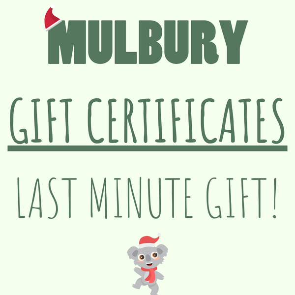 Last minute Gift Certificates - A Sustainable Alternative