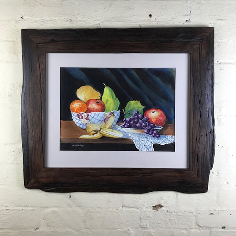 Driftwood Cherry Waxed custom frame made from recycled timber