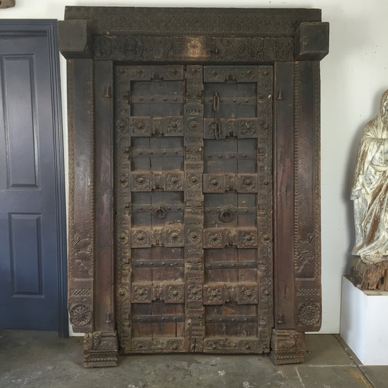 Ancient Indian door made from Sheesham timber