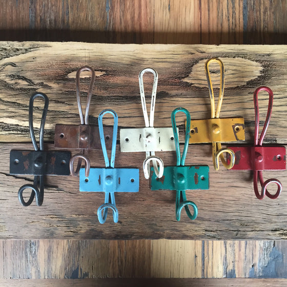 Coloured Metal Hooks - Short  **Last stock**