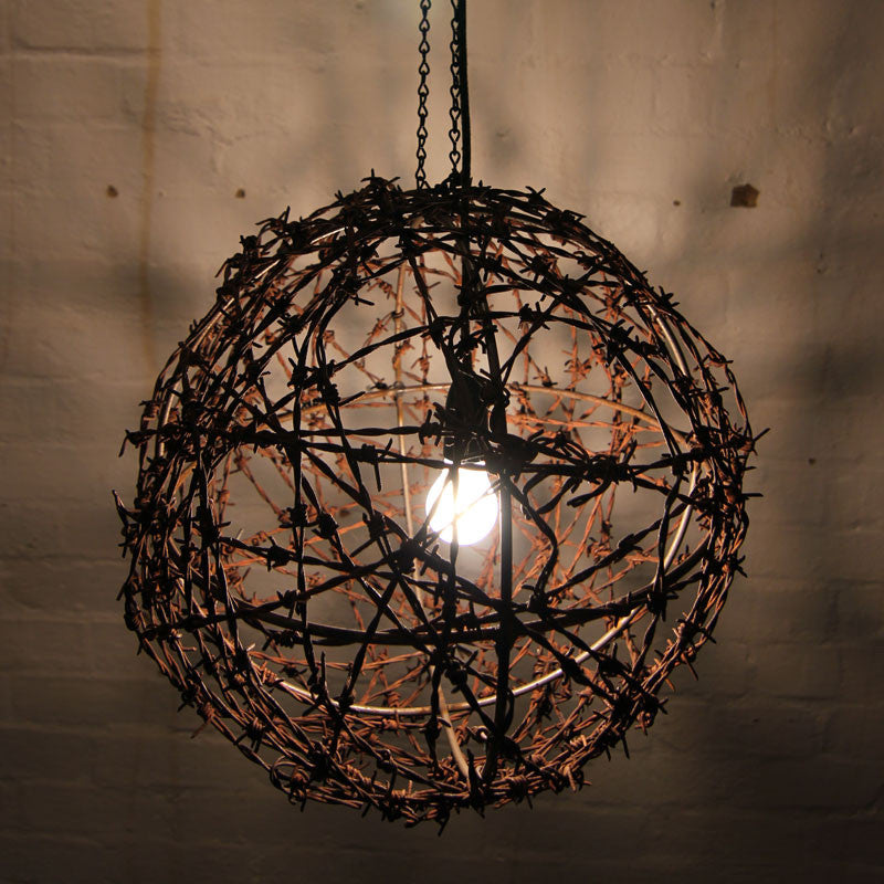 Barbed wire ball light fitting mulbury