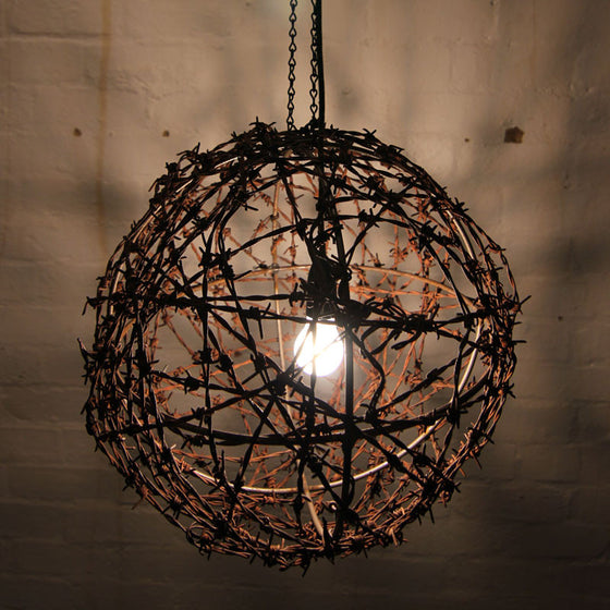 Barbed wire light fitting by Mulbury