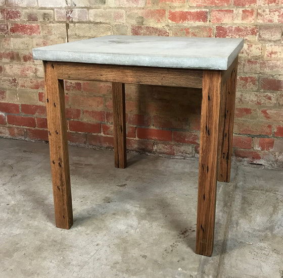 Concrete Table with Recycled Timber Base