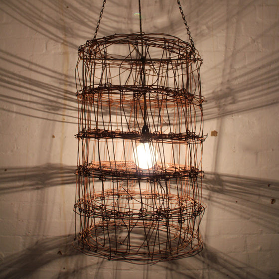 Cylinder Wire light fitting by Mulbury