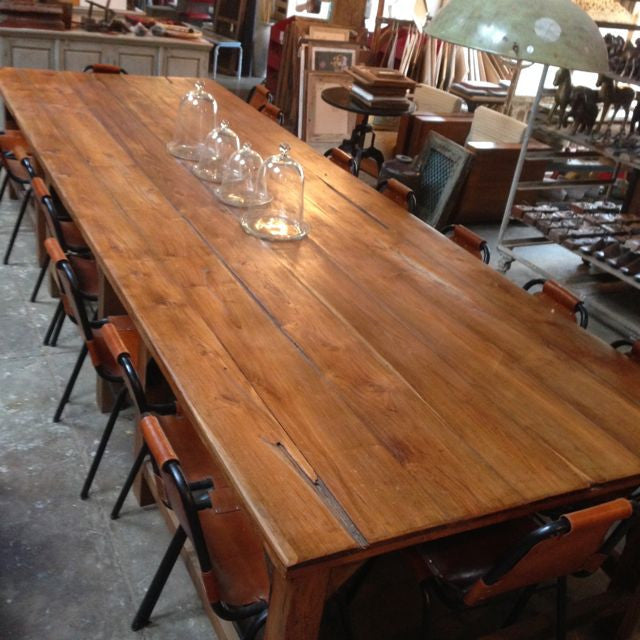 16 Seater Recycled Timber Dining Table