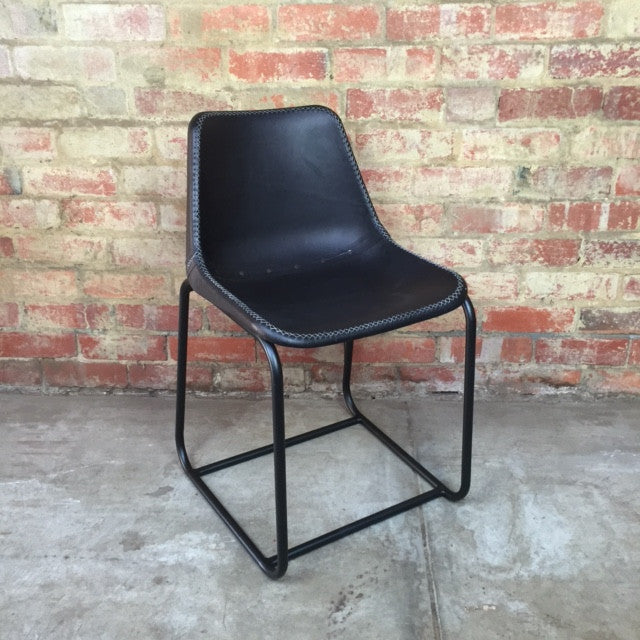La Grange Leather Chair - Black