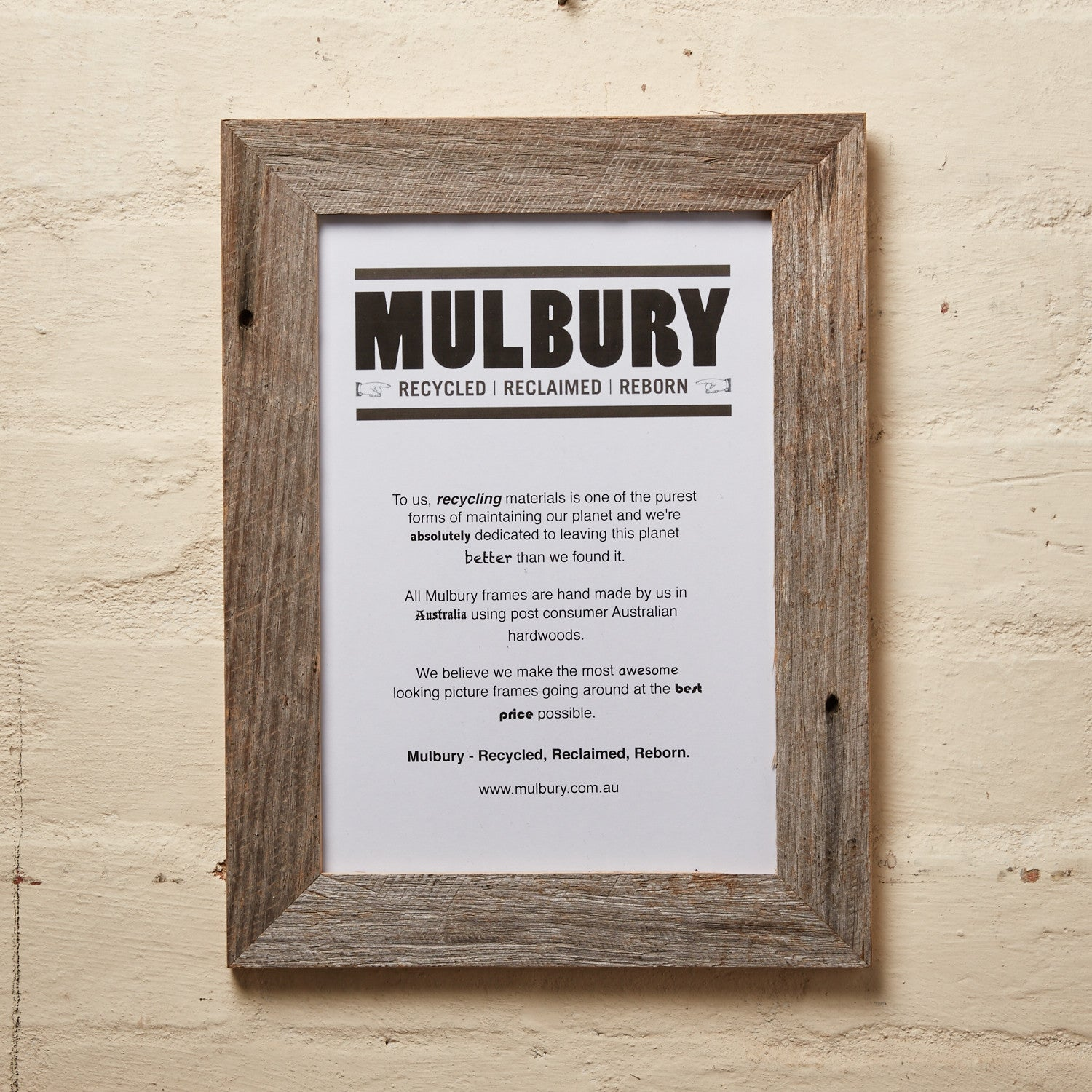 Original Grey Recycled Eco Picture Frames by Mulbury