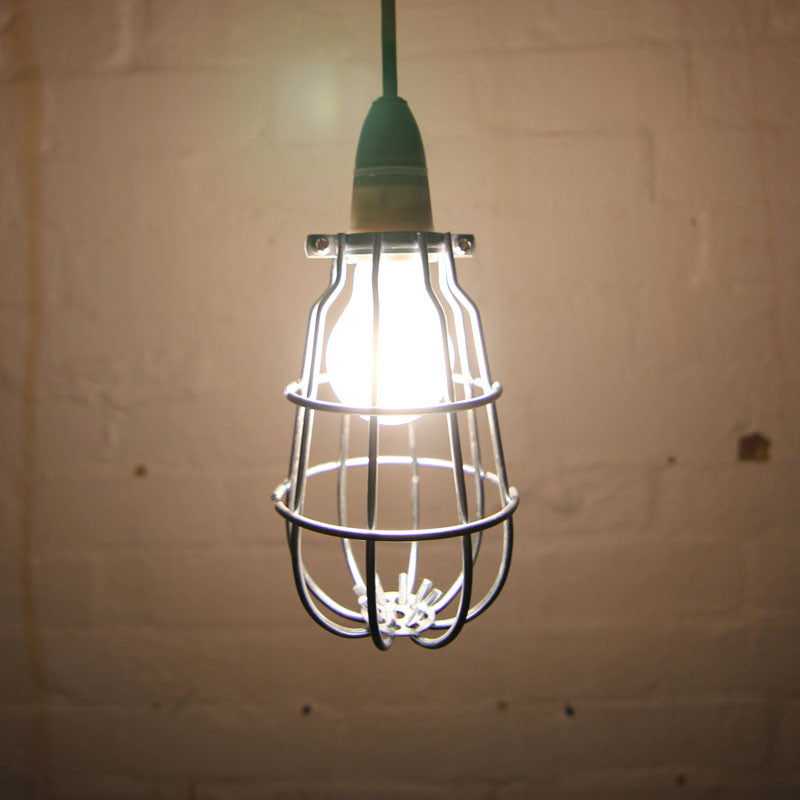 Silver Mill cage light pendant by Mulbury