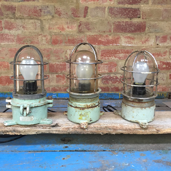 Vintage wall lights from decommissioned ships