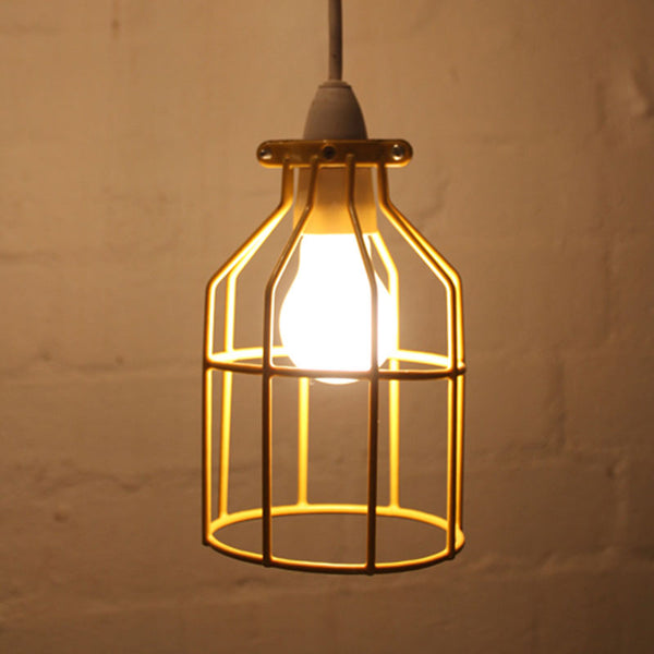 Industrial Bird Cage Light Pendant By Mulbury