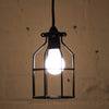 Black Industrial bird cage light pendant by Mulbury