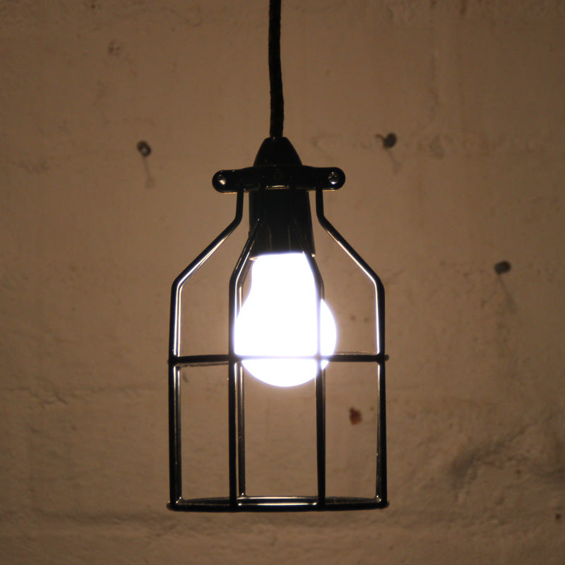 Industrial bird cage light pendant by mulbury bird cage pendant mozeypictures Image collections