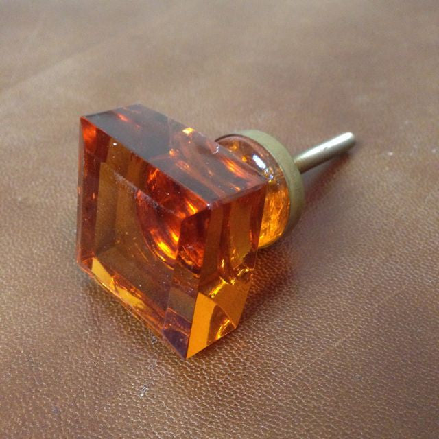 Glass cupboard knob - Square
